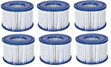 6x Bestway Filterkartusche Poolfilter Filter Ersatzfilter Lay-Z-Spa Gr. 6 58323