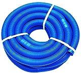 well2wellness 9m Blauer Schwimmbadschlauch Poolschlauch mit Muffen 38mm